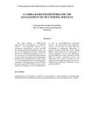 a corba-based framework for the management of multimedia services