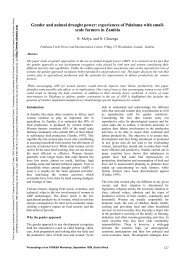 Gender and animal draught power - ATNESA Animal Traction ...