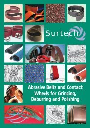 Abrasive Belts and Contact Wheels - Surtech
