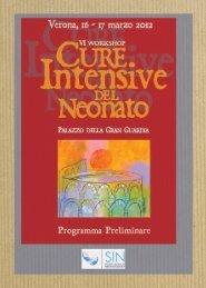 VI Workshop Cure Intensive del Neonato - Società Italiana di ...