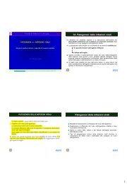 34. Patogenesi delle infezioni virali Patogenesi delle infezioni virali
