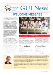 GUI News, Issue 1, June 2010 (PDF) - Growing Up in Ireland