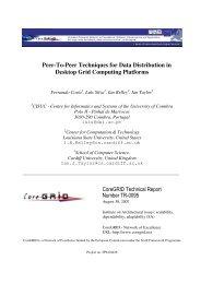Peer-To-Peer Techniques for Data Distribution in Desktop Grid ...
