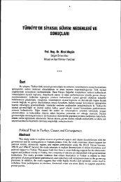 Türkiye'de Siyasal Güven:Nedenleri ve Sonuçları - Siyasal Bilgiler ...
