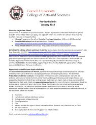 Pre-law Bulletin January 2013 - College of Arts and Sciences