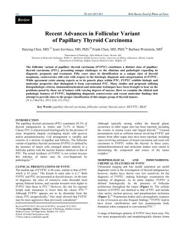Recent Advances in Follicular Variant of Papillary Thyroid Carcinoma