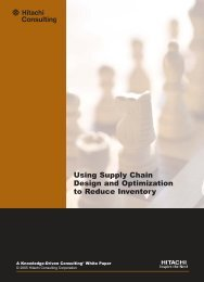 Using Supply Chain Design and Optimization to Reduce Inventory