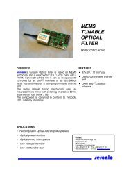 tunable filter datasheet - Sercalo