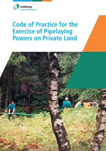 Code of Practice for the Exercise of Pipelaying Powers on Private ...