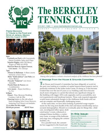 Read the August - The Berkeley Tennis Club