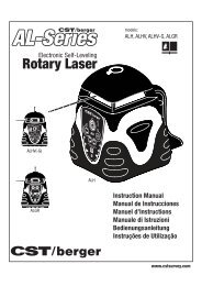 Rotary Laser Rotary Laser - CST/berger
