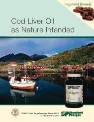 Cod Liver Oil Order Insert - Standard Process