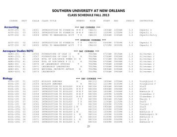 Accounting *** DAY COURSES *** - Southern University New Orleans