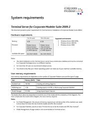 CM 2009.2 Terminal Server System Requirements - Casewise