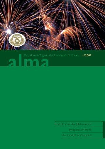 Das Alumni-Magazin der Universität St.Gallen 1/2007