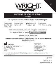 SISTEMAS DE JOELHO WRIGHT - Wright Medical Technology, Inc.