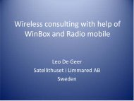 Global wireless consulting with help of Radio ... - MUM - MikroTik
