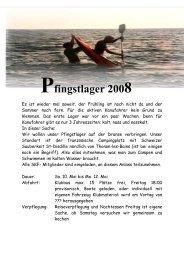Ausschreibung Pfingstlager 10.-12. Mai - Solothurner Kajakfahrer