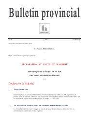 Bulletin provincial n°5 de 2007 - La Province de Hainaut