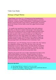 Task2 - Regal Marine decision