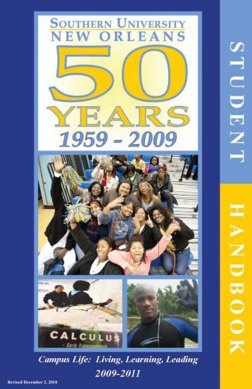Student Handbook - Southern University New Orleans