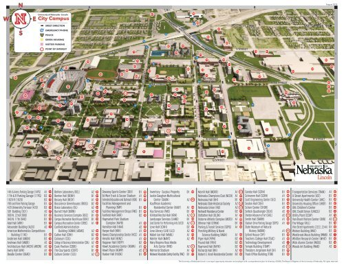 Unl Map Campus Maps The University Of Nebraska Lincoln