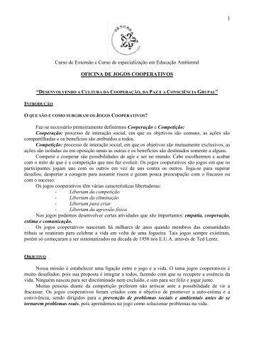 Oficina de jogos Cooperativos - CDCC