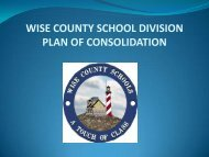 wise county school division high school consolidation plan