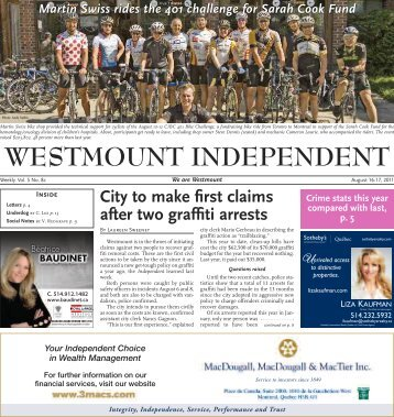 Photo: Andy Vathis - Westmount Independent