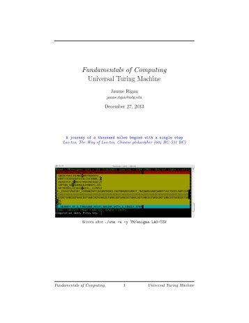 Universal Turing Machine - UdG