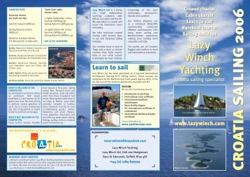 2006 brochure.pdf - Lazy Winch yacht charter sailing holidays.