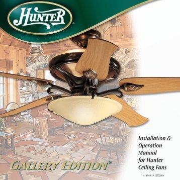 41874-01 • 11/03/04 - Hunter Fan Company