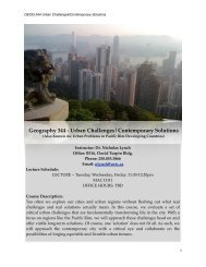 Urban Challenges Contemporary Solutions