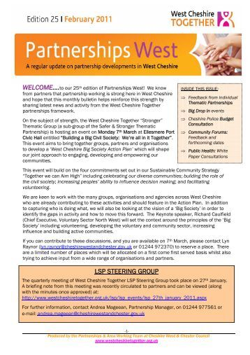 Issue 25: February 2011 - West Cheshire Together