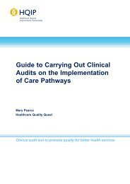 Guide to carrying out clinical audits on the implementation of ... - HQIP