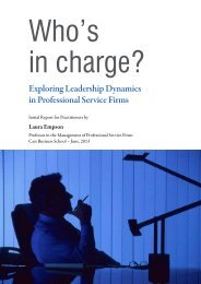 Exploring leadership dynamics in professional service firms (PDF ...