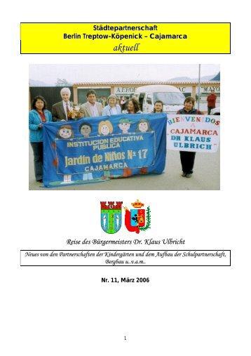 Städtepartnerschaft Treptow-Köpenick - Cajamarca