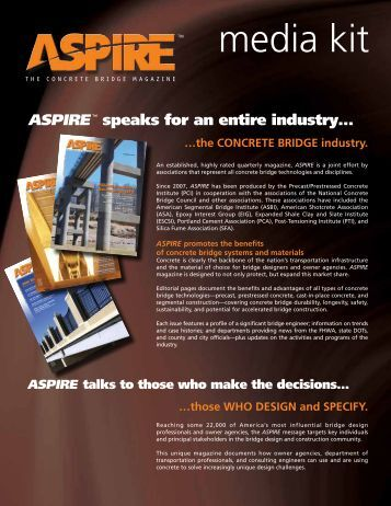 media kit - Aspire - The Concrete Bridge Magazine
