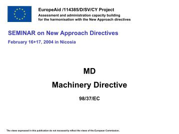 Machinery Directive - Cyprus Organization for the Promotion of Quality