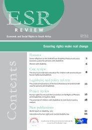 ESR Review Volume 12 No 3 - 2011 - Community Law Centre