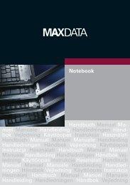 Notebook Handbuch Manual Ma- nuel Manuale ... - MaxData