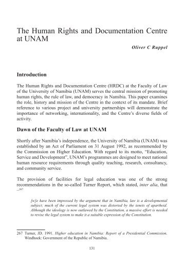 The Human Rights and Documentation Centre at UNAM