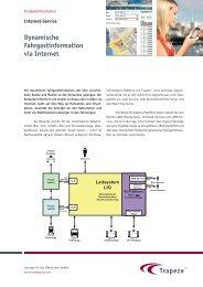 Dynamische Fahrgastinformation via Internet - Trapeze Group