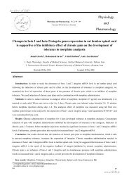 Changes in beta 1 and beta 2 integrin genes expression in rat ... - Sid