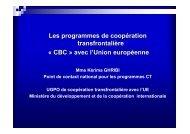 Les programmes de coopération transfrontalière « CBC ... - Iresa