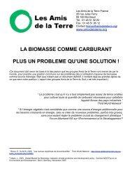 la biomasse comme carburant plus un probleme qu'une solution - CSA