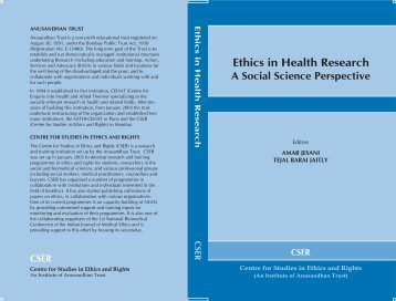 Ethics in Health Research A Social Science Perspective