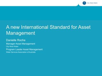Asset Management - Australian Water Association