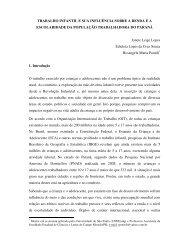 TRABALHO INFANTIL E SUA INFLUÊNCIA SOBRE A RENDA E A ...