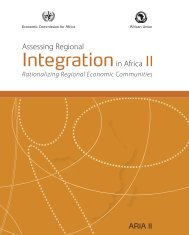Assessing Regional Integration in Africa II - United Nations ...